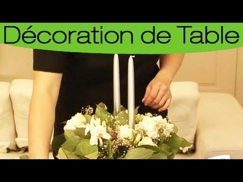 faire un centre de table avec des bougies la technique youtube. Black Bedroom Furniture Sets. Home Design Ideas