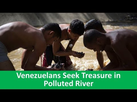 Learn English with VOA News - Venezuelans Seek Treasure in Polluted River