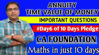 #Day6.1 ll Annuity Part 1 ll Present value & Future Value ll Time Value of money