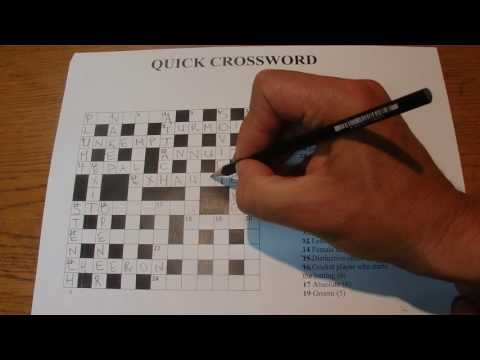 ASMR - Quick Crossword - Australian Accent - Writing Answers with Quiet Whispering