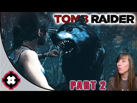 Tomb Raider Gameplay // Part 2 - Wolf Attack!