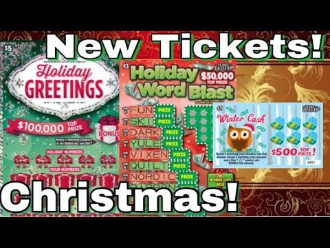 ALL THE NEW CHRISTMAS TICKETS! WINS! $5 Seasons Greetings, $3 Holiday Word Blast Texas Lottery