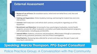 Police Practice Group; External Assessment