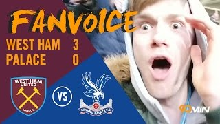 Andy Carroll bicycle kick gives West Ham 3-0 win  | West Ham 3-0 Crystal Palace | 90min FanVoice
