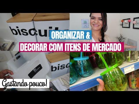 Organize E Decore Com Itens Do Mercado| Comprinhas Para Organizar E Deixar A Casa Bonita!
