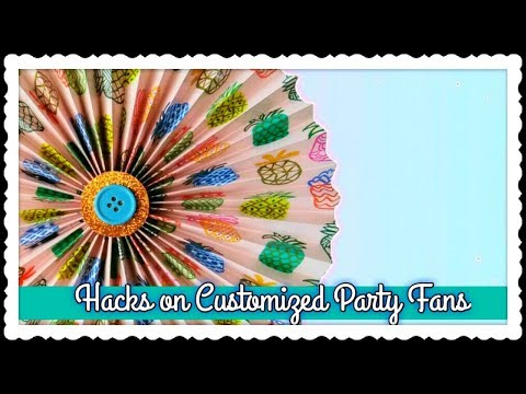 DIY Party Fan or Paper Fan, Fast and Customized // Easy Birthday Party Decoration Ideas