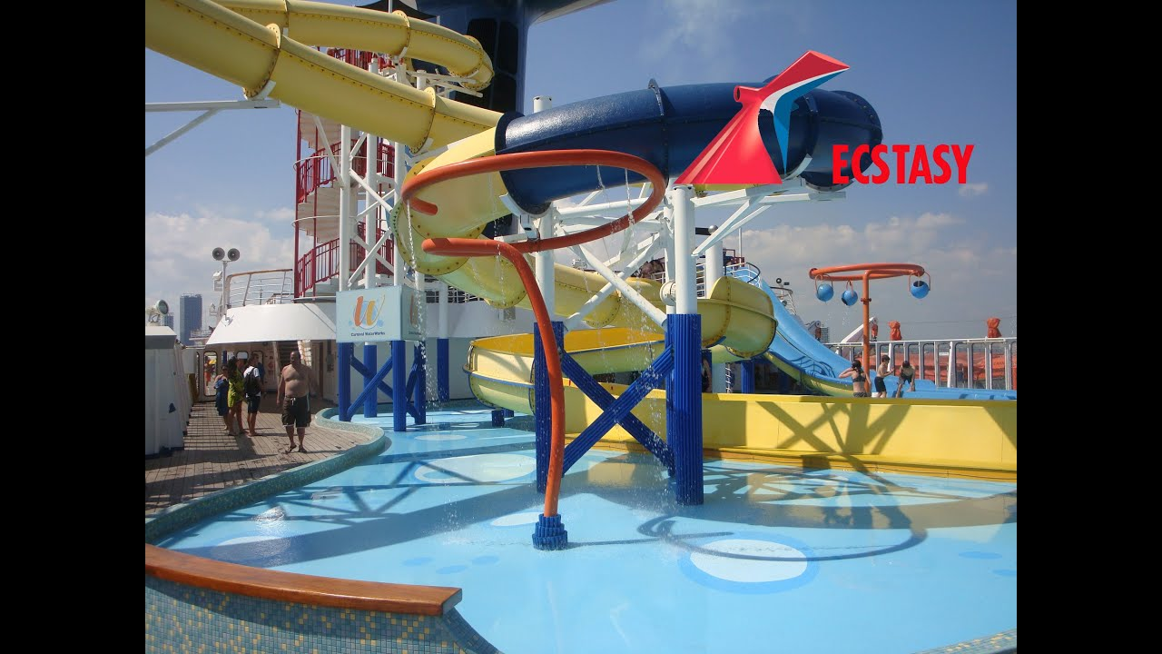 carnival ecstasy cruise water park youtube