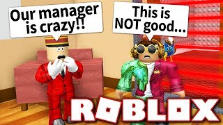 ESCAPE THE HOTEL IN ROBLOX!! THE MANAGER TRAPPED US INSIDE!
