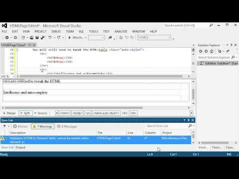 HTML With Visual Studio