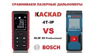 Сравнительный обзор лазерных дальномеров KACKAD 4T-IP и Bosch GLM 30 Professional