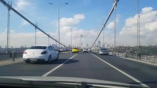 Altunizade 15 Temmuz Şehitler Köprüsünden Asya'dan Avrupa'ya Geçiş