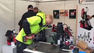 Aage Solbrekke og HR Maskin boret opp mange hull under årets Dyrsku'n.