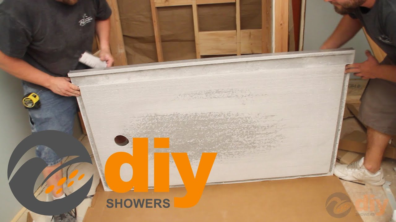 How To Install An Onyx Collection Shower Pan And Drain   YouTube