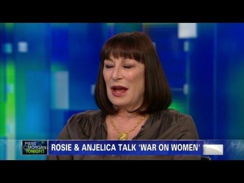 Anjelica Huston, Rosie on women's issues