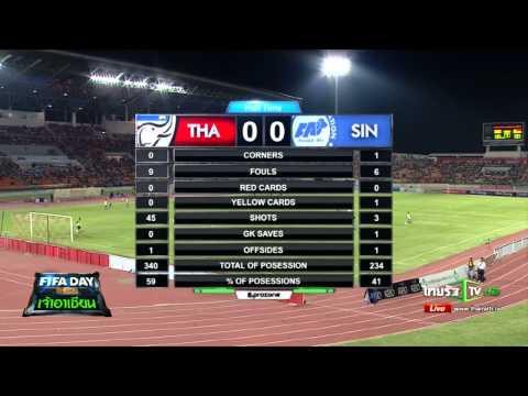 Live Match ถ่ายทอดสดฟุตบอล ไทย vs สิงคโปร์  FIFA Day 2015