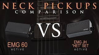 "EMG 60 vs EMG JH ""HET"" SET - Active NECK Pickup Guitar Tone Comparison / Review / Demo"