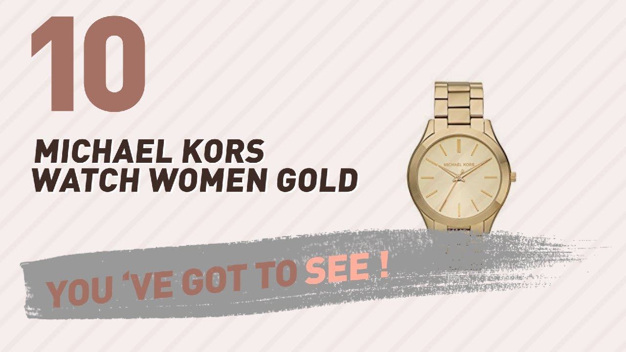 aa1418a716ea Michael Kors Watch Women Gold    New   Popular 2017 - YouTube