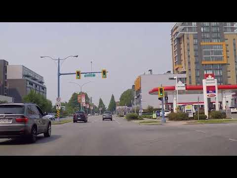 Richmond City - Suburb Of Vancouver BC Canada - Driving On Granville Avenue