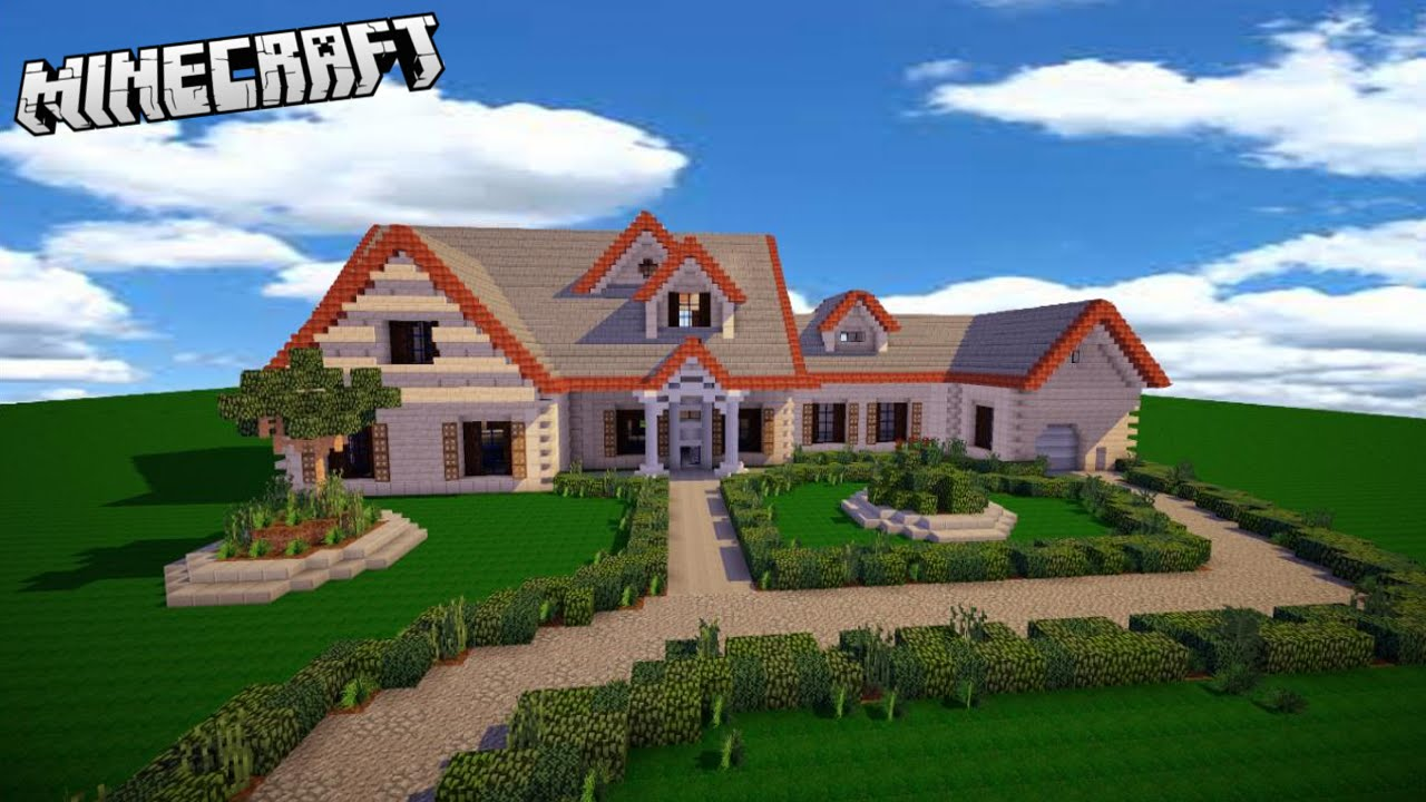 Minecraft insane modern house tutorial part 1 2016 xbox for Classic house tutorial