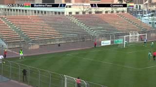 BURKINA FASO - COMORES (Match amical du 5 mars 2014 à Martigues)