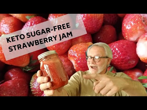 KETO SUGAR-FREE STRAWBERRY JAM: LOW CARB BERRY PRESERVES