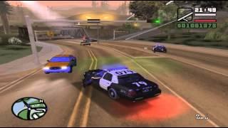 GTA San Andreas Persecución Policial Taxista loco