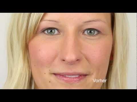 Constant Make-up an den Augenbrauen und Lippen
