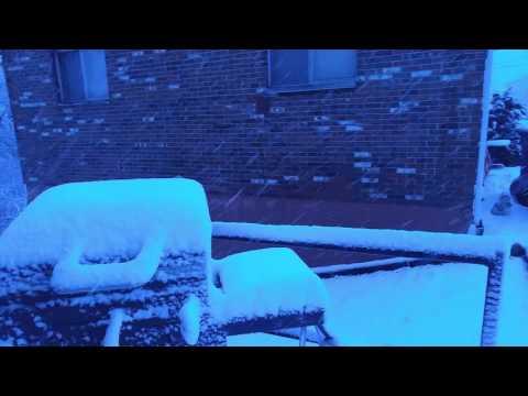 Snowfall in Bethalto IL