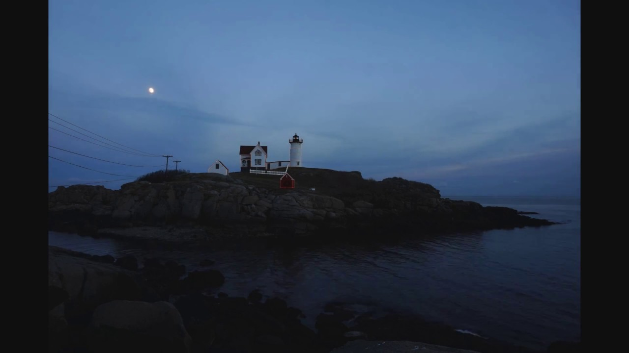 Nubble Lighthouse Christmas Lights 2016 - YouTube