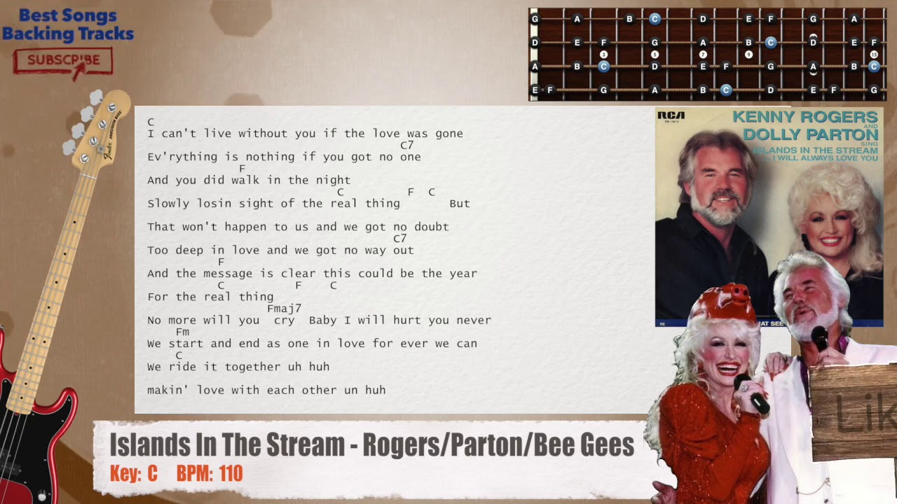 Islands In The Stream Rogerspartonbee Gees Bass Backing Track