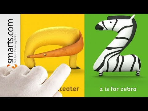 Alpha Zoo - phonics animated alphabet for kids (lowercase) - app demo)