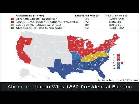 1860 US Presidential Election Result