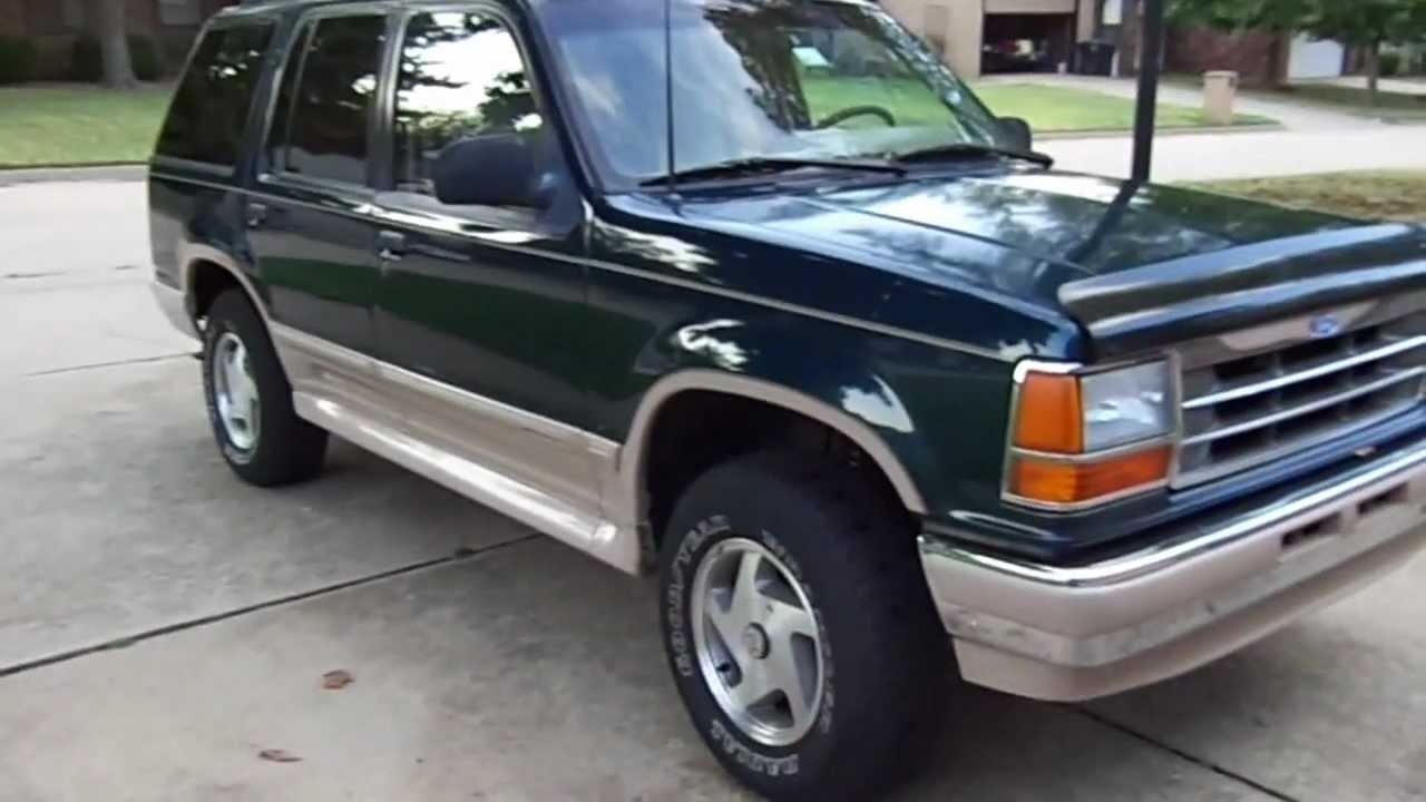 1993 ford explorer 4x4 eddie bauer for sale or trade youtube