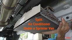 Sprinter Van Split Air Conditioner DIY RV Conversion