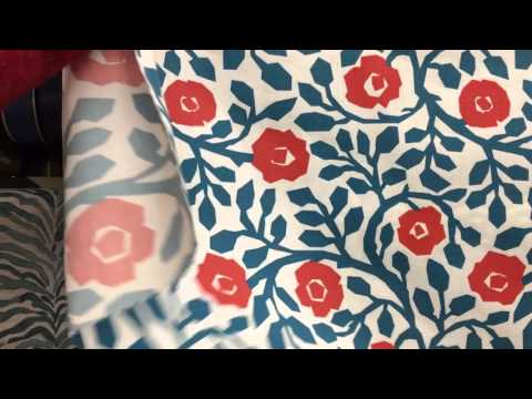 Crate And Barrel - Floral Vines Drapery Fabric