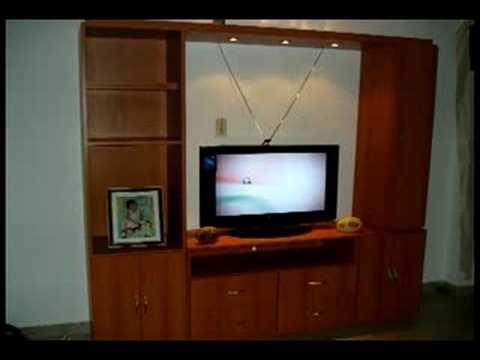 Mueble funcional de madera youtube for Muebles salon modulares madera