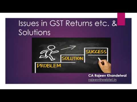Issues in Filing GST Returns with Solutions by CA Rajeev Khandelwal