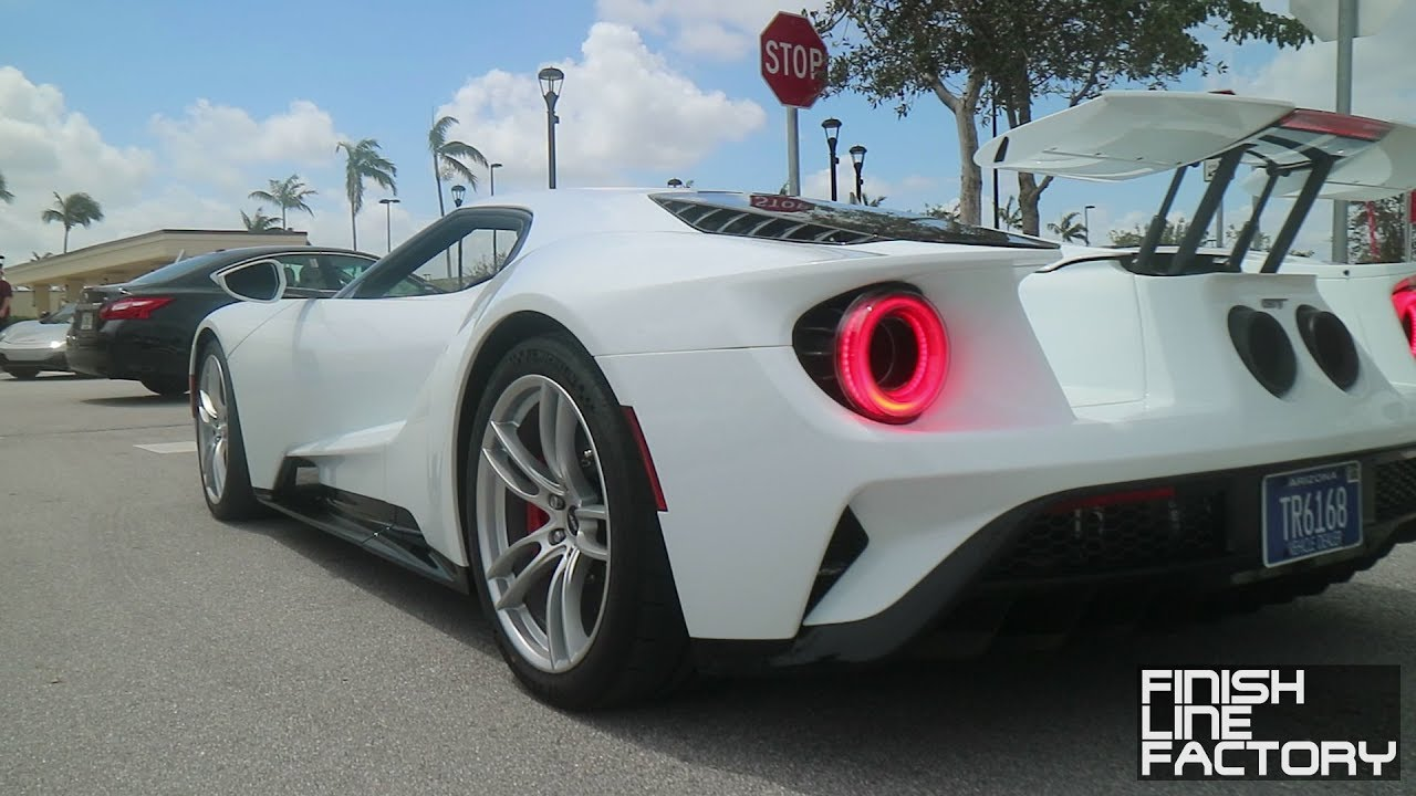 New Ford Gt Leaving Cars Coffee In Race Mode Cncpb September  P