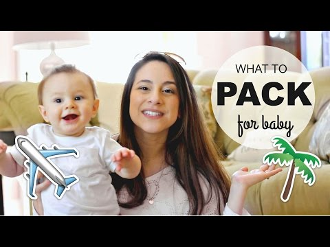 Packing for Baby on Vacation! What I Packed for My 8 mo. Old! | Justine Marie