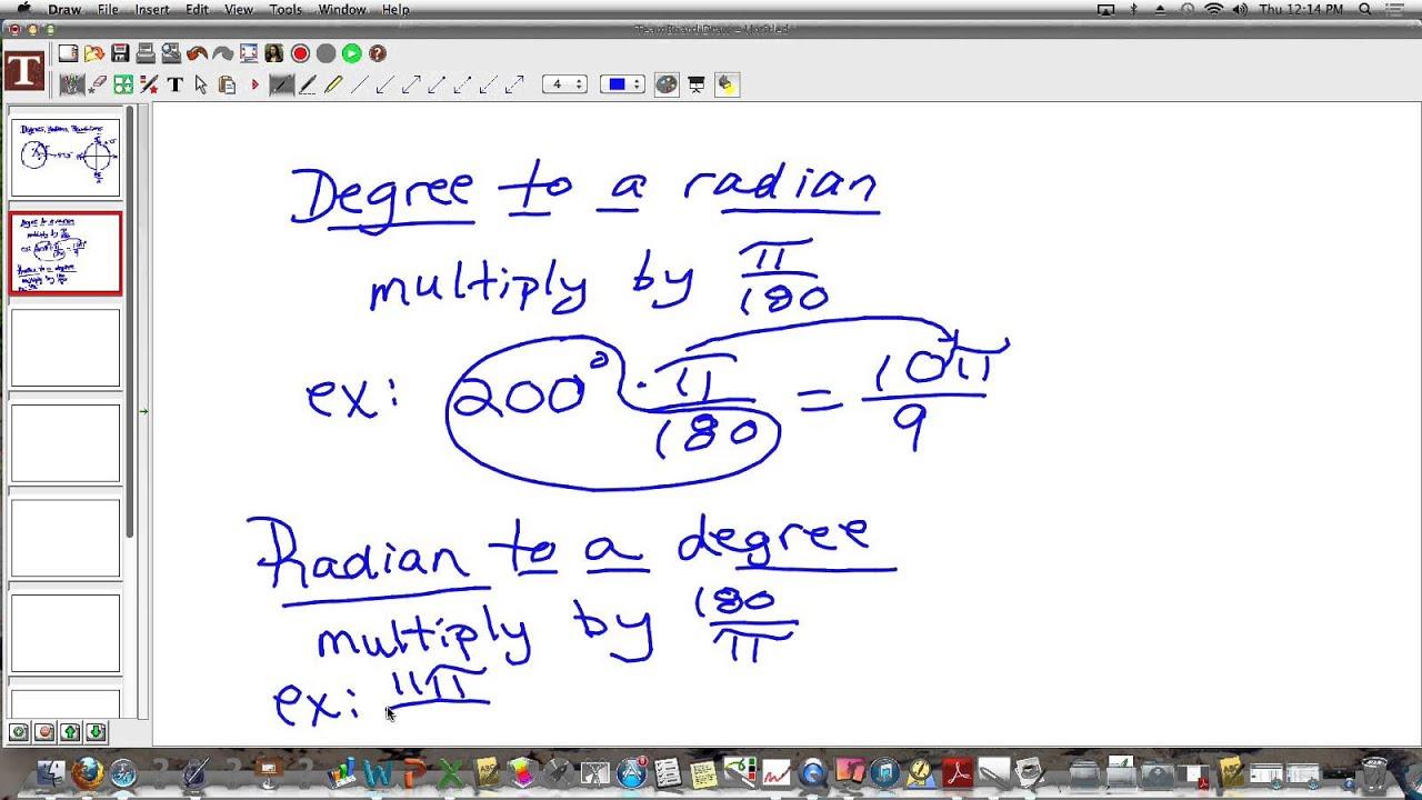 Degrees, Radians, Revolutions Notes - YouTube