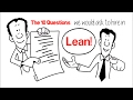 10 Questions to be hired in Lean Manufacturing