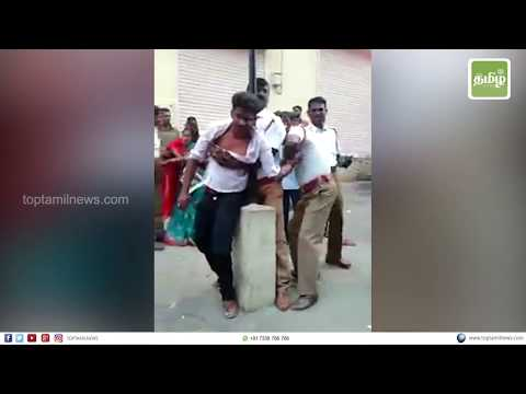 சென்னையில் வாலிபரை கொடூரமாக தாக்கிய டிராபிக் போலீஸ் | Chennai traffic Police Attacks youth