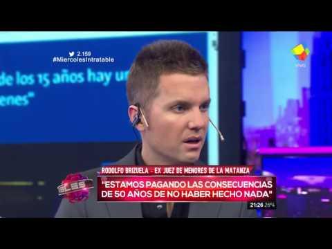 Rodolfo Brizuela sobre la baja de imputabilidad