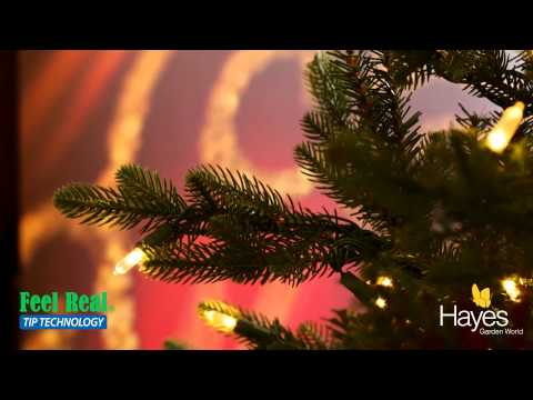 What are 'Feel Real' branches on an artificial Christmas tree