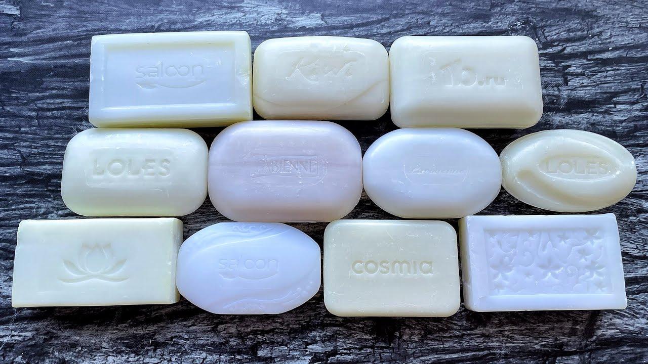 ASMR cutting dry white soap. Soap carving. Satisfying video. No talking. Резка сухого мыла