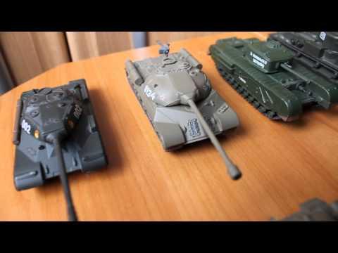 видео: Коллекция моделей танков