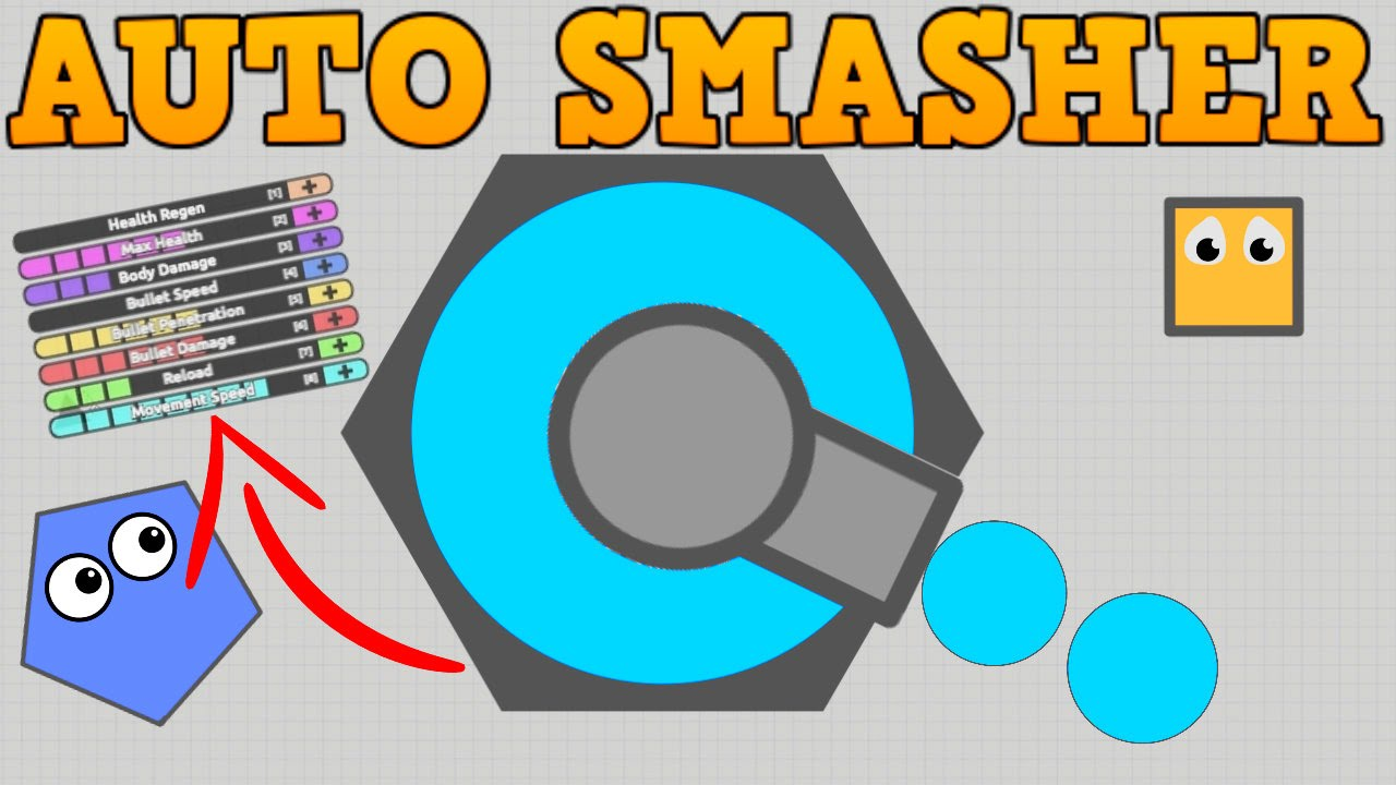 Secret diep io auto smasher tank new max upgrades for Finding a builder
