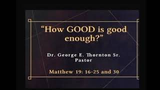 "How GOOD is Good Enough?"" 9-26-20 Sermon Magazine St. SDA Church"