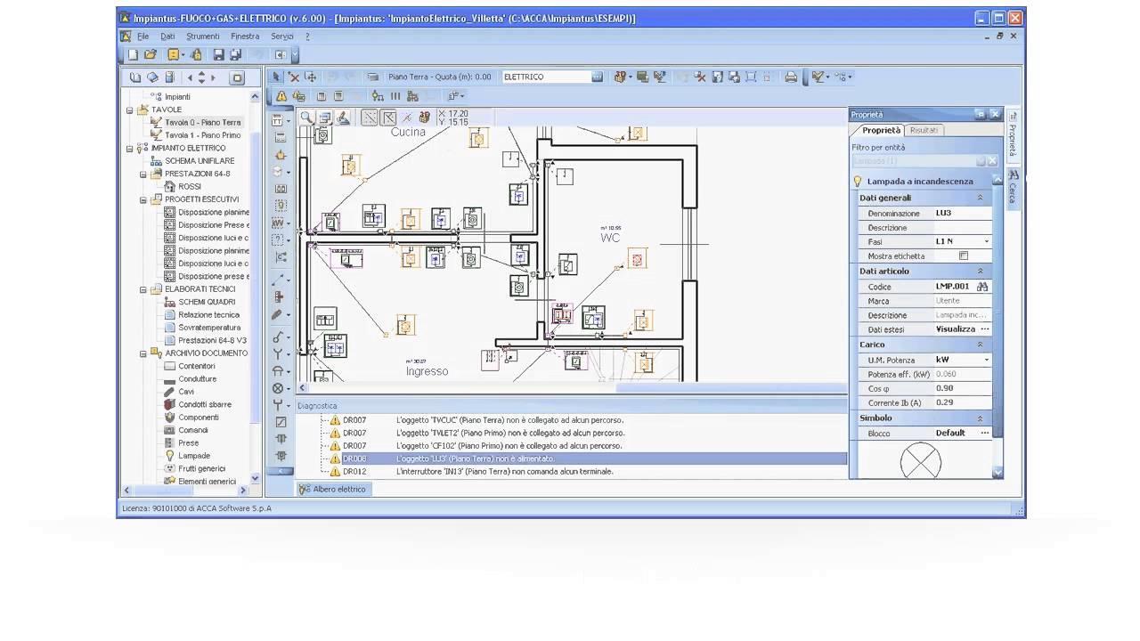 Progettazione impianti elettrici impiantus elettrico acca software youtube - Programmi progettazione casa gratis ...
