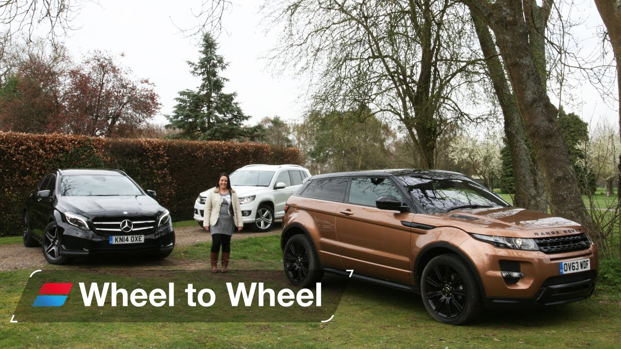 Land Rover Range Rover Evoque vs Mercedes GLA vs Volkswagen Tiguan video 4 of 4 - YouTube